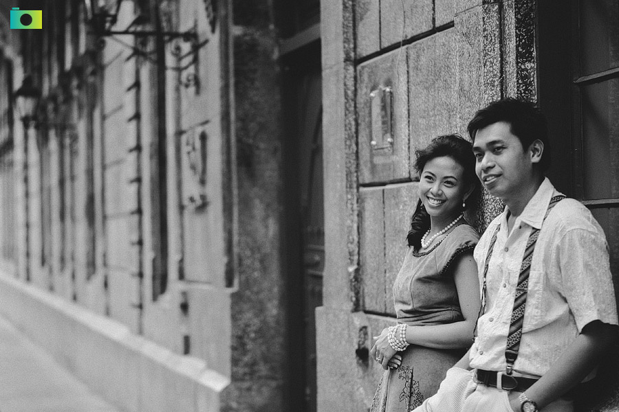 WIllard and Charisma Intramuros Prenup Shoot by Jayson and Joanne Arquiza
