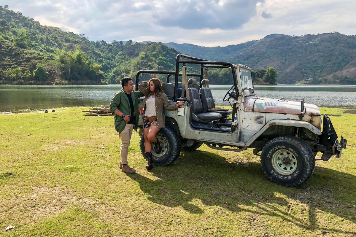 Mt Pinatubo prenup using the new Iphone 8 manila wedding photographer
